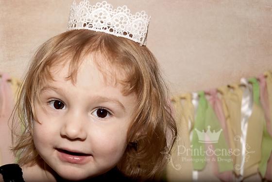 Print-Sense Photography, lace crown, toddler girl photo
