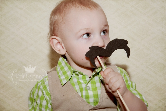 Print-Sense Photography, mustache photobooth toddler