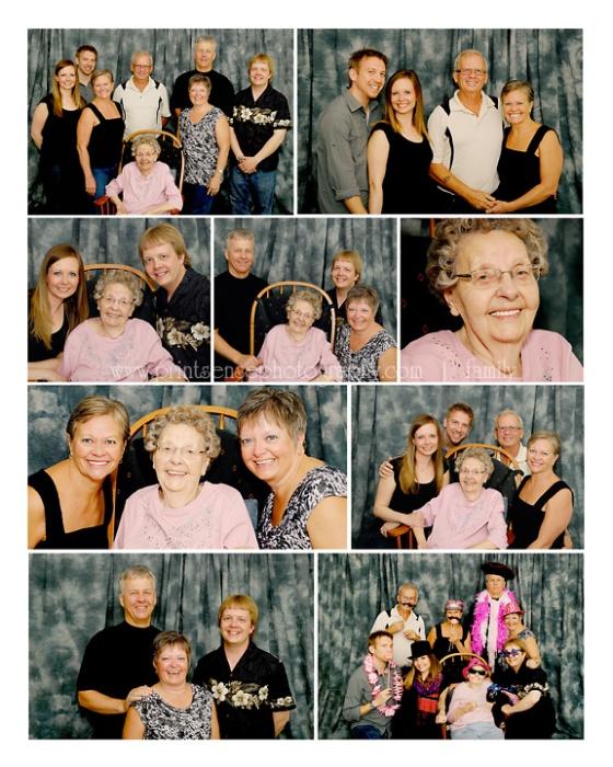 Print-Sense Photography family reunion storyboard