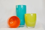 lime green, turquoise, orange, everyday objects, glasses, cups, Print Sense Photography